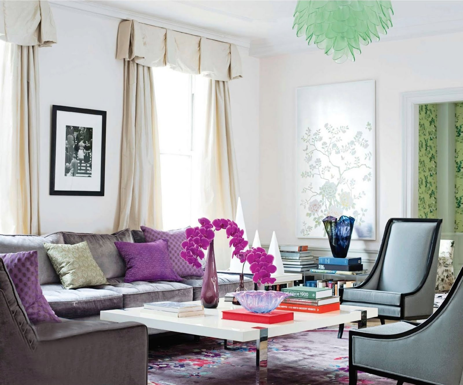 purple accents in living room tips for decorating with purple indoor pros 19099