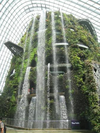 This indoor waterfall in Singapore is a major attraction. It towers over  six stories and boasts lush greenery to enhance the beauty of the falls.  The water ...