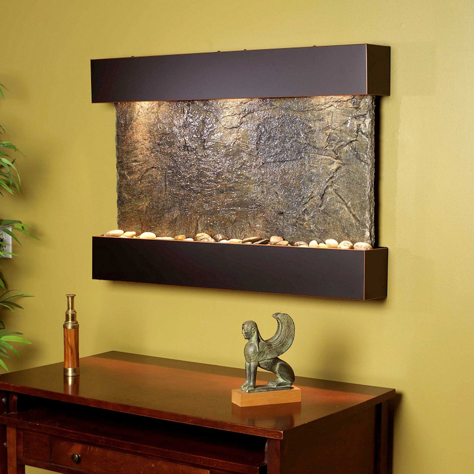 is a wall fountain right for your waiting room indoor fountain pros. Black Bedroom Furniture Sets. Home Design Ideas