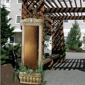 4' Watergarden With Bronze Mirror Wall Fountain