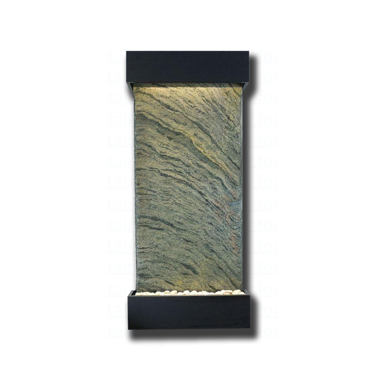 Onyx Trim Pieces : Large nojoqui falls jeera slate with black onyx trim kit