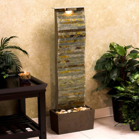 Curvature Slate Floor Water Fountain