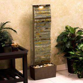 Curvature Slate Floor Water Fountain