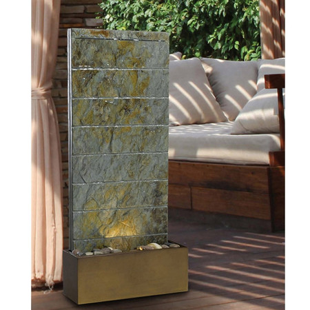 Brook Indoor/Outdoor Floor Fountain - Indoor Fountain Pros