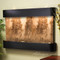 Sunrise Springs - Magnifico Travertine - Blackened Copper - Rounded Corners - Indoor Fountain Pros