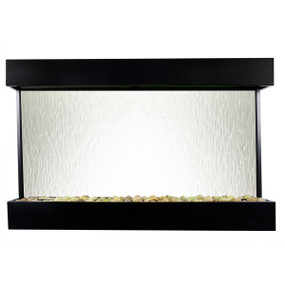 Echo Falls Large Horizontal Silver Mirror with Black Onyx Trim - Indoor Fountain Pros