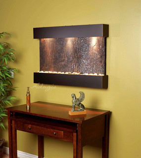 Reflection Creek - MultiColor Slate with Blackened Copper Trim and Square Corners