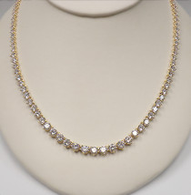Graduated Round CZ Tennis Necklace, 20.0 Ct TW