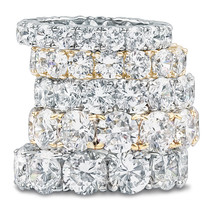 Round Prong Set Cubic Zirconia Eternity Band