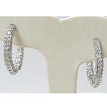 Marivella Triple Pave Huggie Hoop Earrings, 5.5 Ct TW