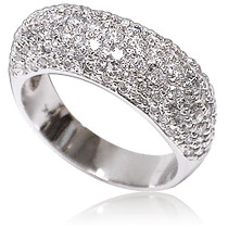 Demi Domed Pave Rounds CZ Designer Band