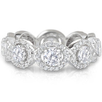 Margarita Cubic Zirconia Halo Eternity Band in 14K