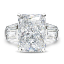 Emerald Cut or Radiant Cut Triple Baguette Solitaire Ring