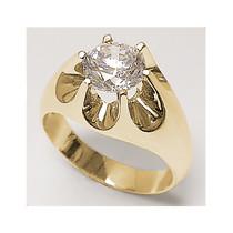 Sale - 2 Carat Round Cubic Zirconia Gypsy Claw Men's Ring