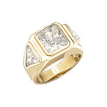 Sale - 1.5 Carat Patrick Emerald Cut with Trillions CZ Men's Ring