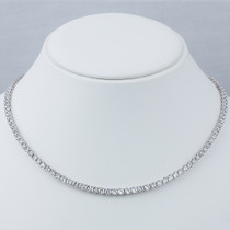 Classic Round Cubic Zirconia Eternity Tennis Necklace