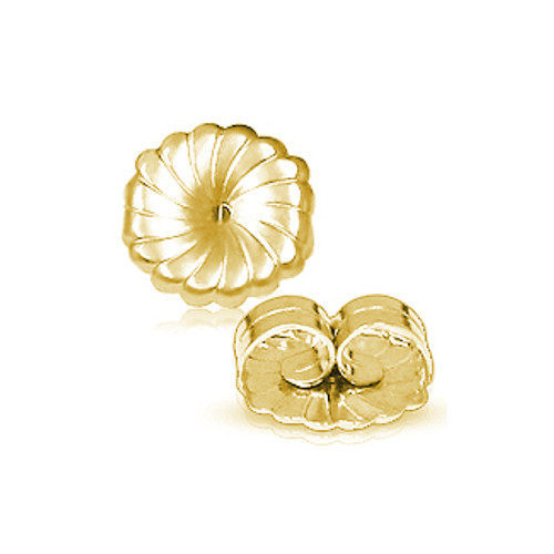 solid 14k gold extra large earring backs