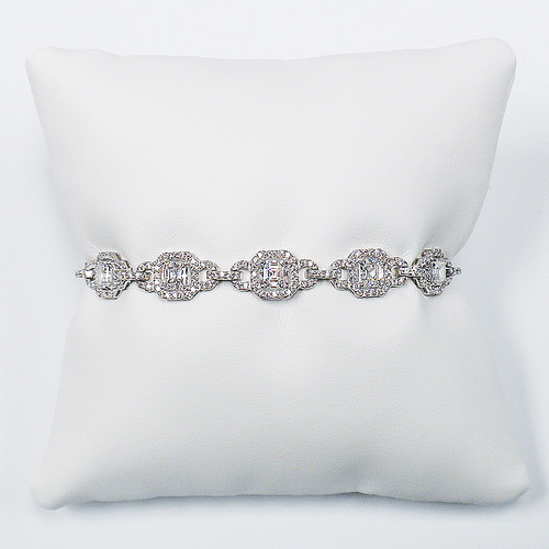 Leandra Asscher Cubic Zirconia Deco Bracelet, 9.2 Ct TW