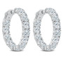 Bellamy Inside Out Rounds CZ Earring Hoops, 13.0 Carats Total