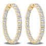 Marielle Inside Out Rounds CZ Earring Hoops, 9.6 Carats Total