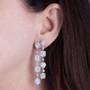Grande CZ Halo Chandelier Drop Earrings