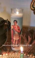 Saint Expedite Vigil Candle Service, Add-On, Booster