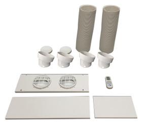 """Whynter V2 accessory set for Portable Air Conditioner Models  ARC-12SD, ARC-12SDH, ARC-14S, ARC-14SH, ARC-143MX, ARC-141BG (5.9"""" diameter hoses)"""
