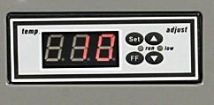 Whynter FM Portable Freezer Control Panel