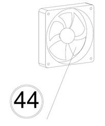 Whynter BWR-33SD External Fan Motor Replacement (BWR-EFM-33SD)