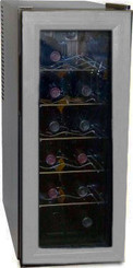 Haier 12-Bottle Capacity Platinum & Onyx Wine Tower Storage - HVW12ABS