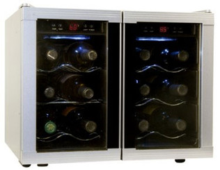 Haier 12-Bottle Capacity Dual-Zone Wine Cellar - HVUE12DBSS