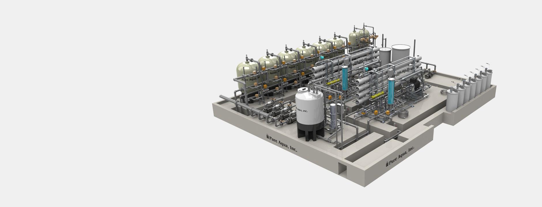 custom water purification systems أنظمة معالجة المياه المصنعة حسب الطلب