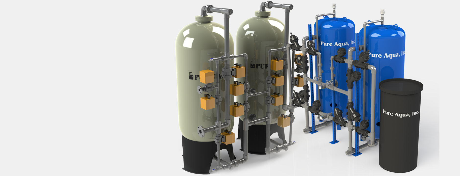 ion exchange, water softeners systems أنظمة التبادل الأيونى لمعالجة المياة