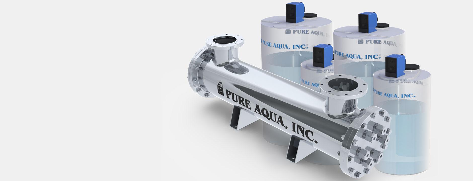 water disinfection systems معالجة المياه بإستخدام أنظمة الأشعة فوق البنفسجية و نظم حقن الكيماويات
