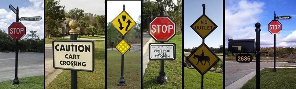 decorative street signage