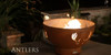 """Fire Pit Art Antlers 36"""" Natural Gas or Propane Fire Pit 3"""