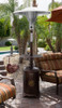 """TFPS Patio Heaters 87"""" Tall Outdoor Hammered Bronze Cast Aluminum Patio Heater - TFPS-HLDS01-CAL"""