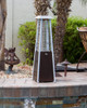 """TFPS Patio Heaters 39"""" Tall Table Top Glass Tube Heater - Hammered Bronze Patio Heater - TFPS-HLDS032-GTTHG"""