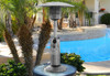 """TFPS Patio Heaters 39"""" Tall Table Top - Stainless Steel Patio Heater - TFPS-HLDS032-B"""