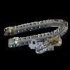 "Warming Trends Crossfire 110K BTU Linear Brass 22"" Burner System - Pan - Key Valve Kit   Flex Valve Kit"