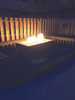 "Warming Trends Crossfire 110K BTU Linear Brass 22"" Burner System - Pan - Key Valve Kit   Lifestyle"