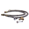"Warming Trends Crossfire 250K BTU Linear Brass 50"" Burner System - Pan - Key Valve Kit  Dual 34"