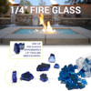 1/4 inch Black Classic Fire Glass 4