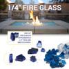 1/4 inch Starfire Classic Fire Glass 5