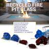 1/2 inch to 1 inch Dark Blue Economy Fire Glass 3
