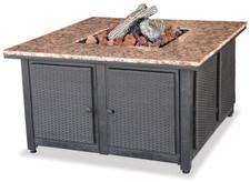 Blue Rhino Uniflame LP Propane Gas Fire Pit Table With Granite Mantel