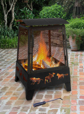 Landmann Haywood Wildlife Sturdy Steel Fire Pit - 25319