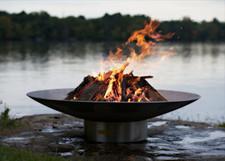 "Fire Pit Art Bella Vita 70"" Stainless Steel"