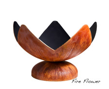 """Ohio Flame Fire Flower Artisan Bowl 41"""" Diameter Fire Pit Patina Finish - OF41ABFF"""
