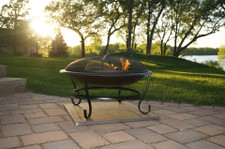 Deck Protect 36 inch by 36 inch Fire Pit Pad and Rack - DP4002